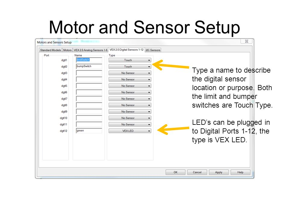 Presentation Name Course Name. Unit # – Lesson #.# – Lesson Name. Motor and Sensor Setup.