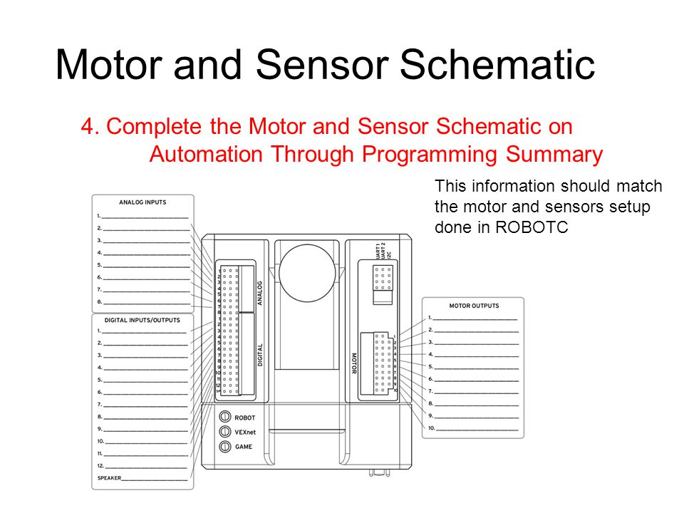 Motor and Sensor Schematic