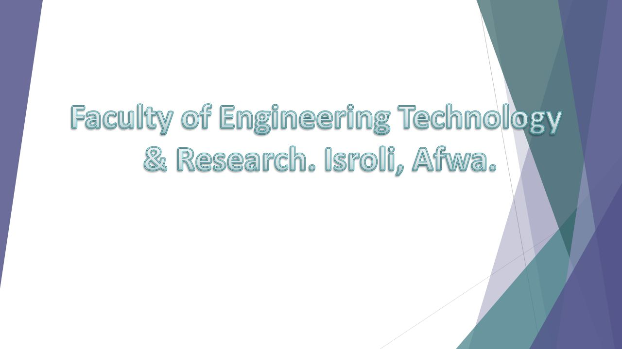 Faculty of Engineering Technology
