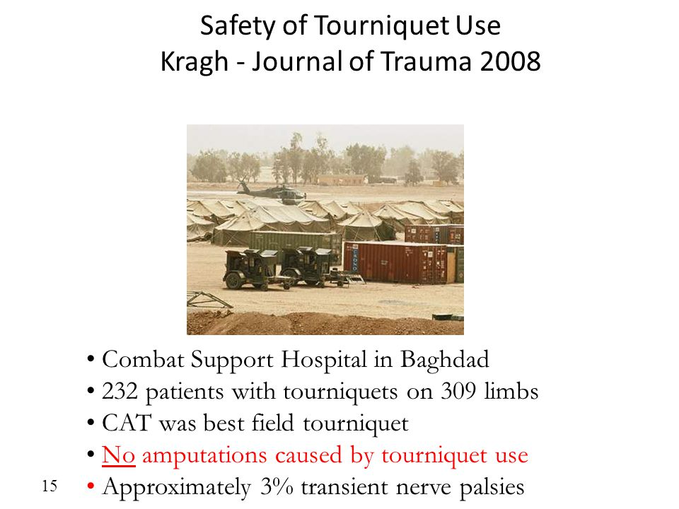 Safety of Tourniquet Use Kragh - Journal of Trauma 2008