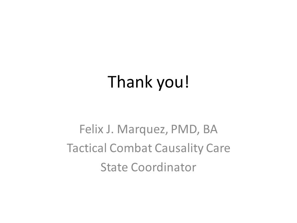 Tactical Combat Causality Care