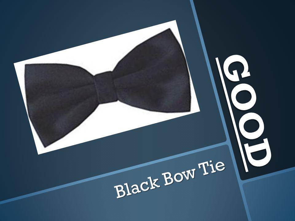GOOD Black Bow Tie