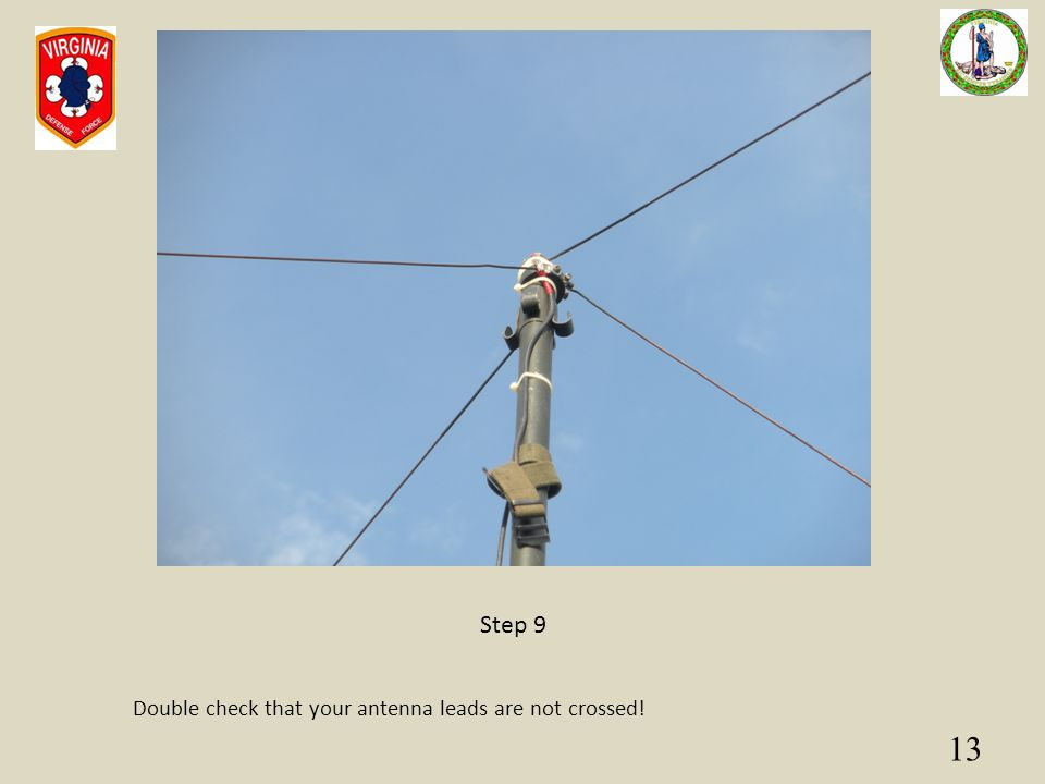 Step 9 Double check that your antenna leads are not crossed!