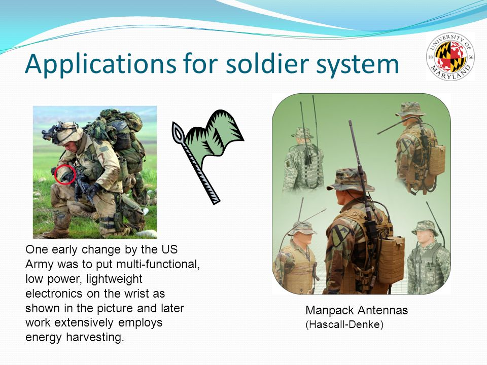 Applications for soldier system