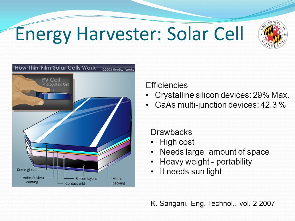 Energy Harvester: Solar Cell
