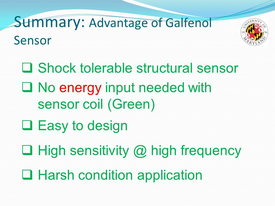 Summary: Advantage of Galfenol Sensor