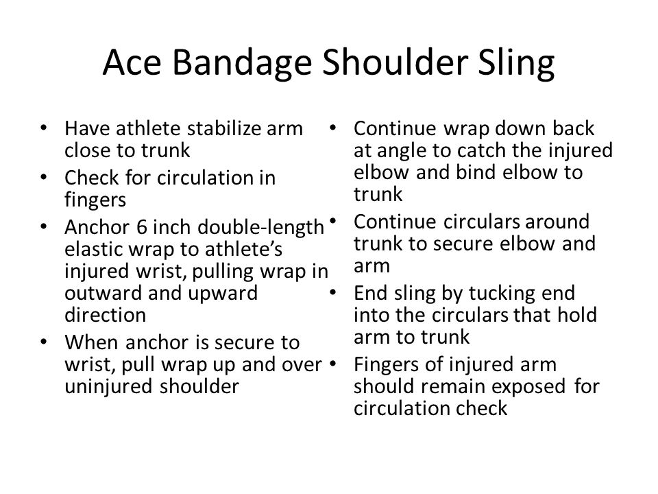Ace Bandage Shoulder Sling