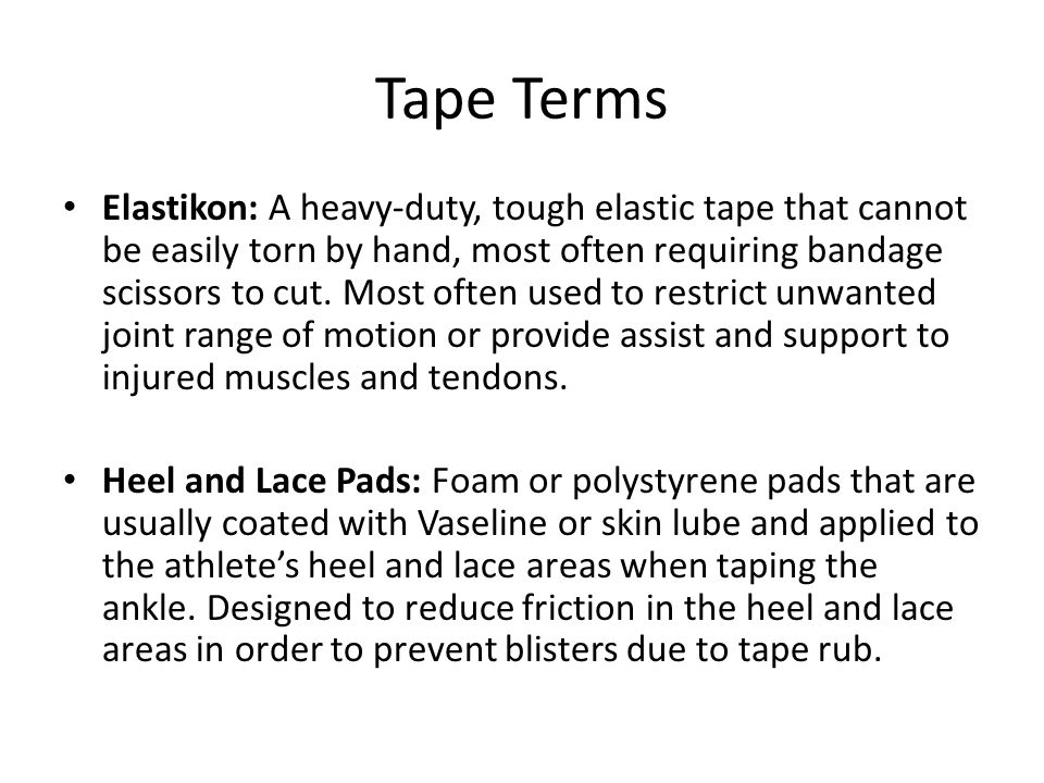 Tape Terms