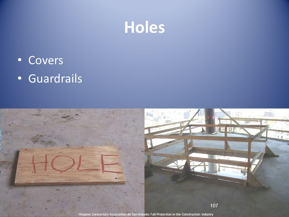Holes Covers Guardrails