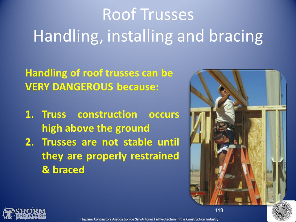 Roof Trusses Handling, installing and bracing