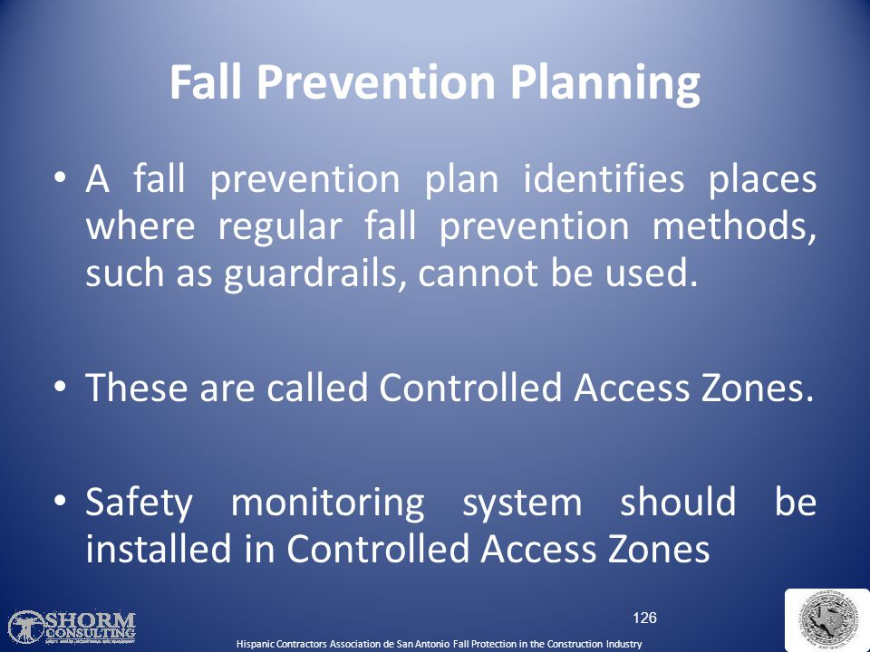 Fall Prevention Planning