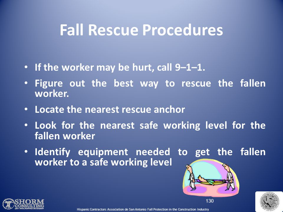 Fall Rescue Procedures