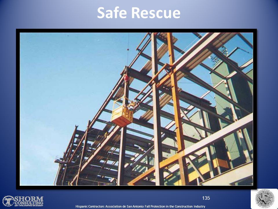 Safe Rescue Hispanic Contractors Association de SA. Fall Protection SH-22298-11-60-F-48.