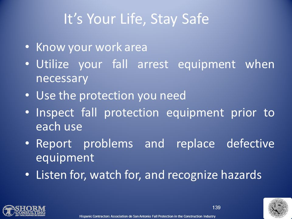 It's Your Life, Stay Safe