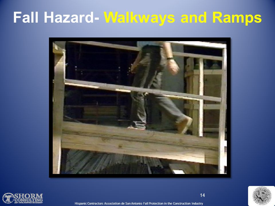 Fall Hazard- Walkways and Ramps