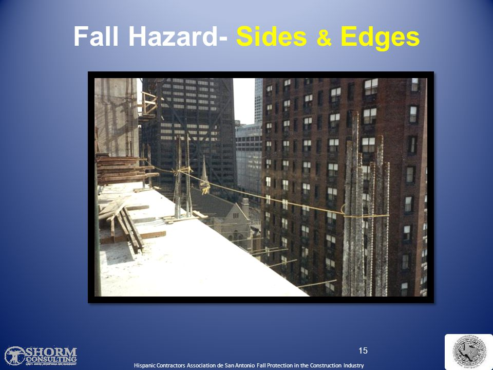 Fall Hazard- Sides & Edges