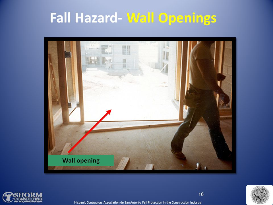 Fall Hazard- Wall Openings