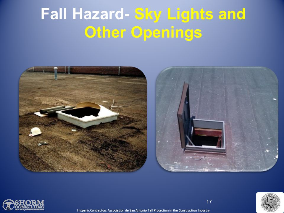 Fall Hazard- Sky Lights and Other Openings