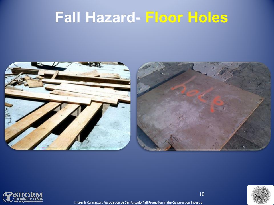 Fall Hazard- Floor Holes