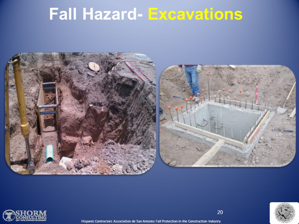 Fall Hazard- Excavations