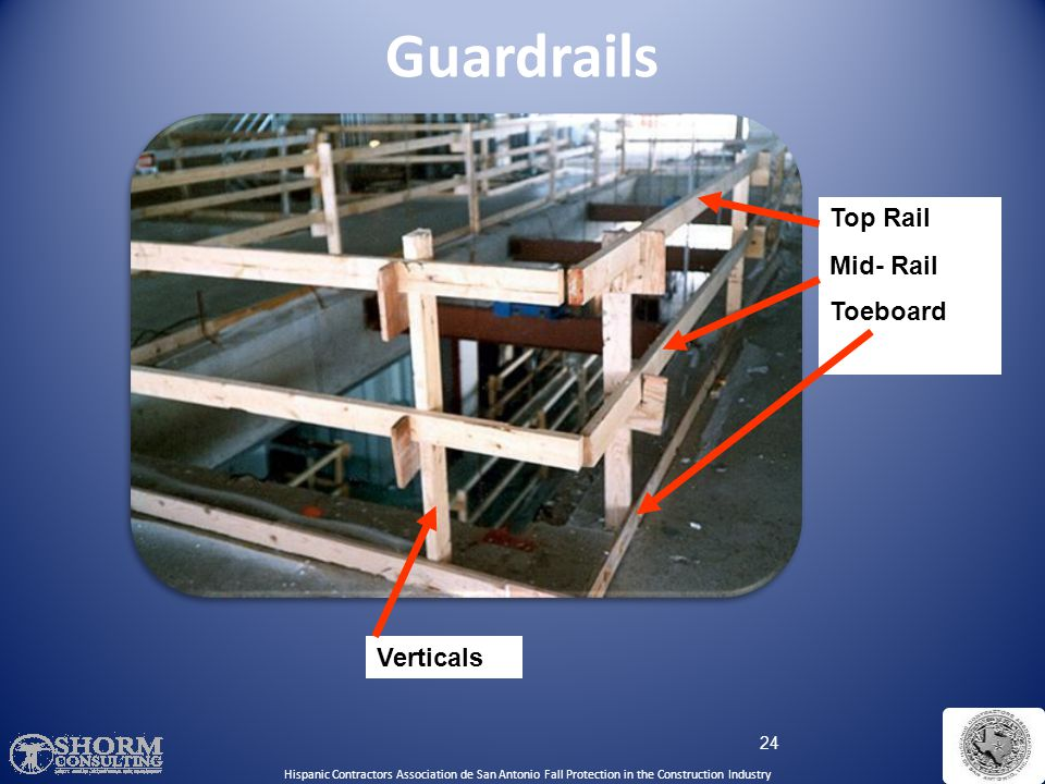 Guardrails Top Rail Mid- Rail Toeboard Verticals