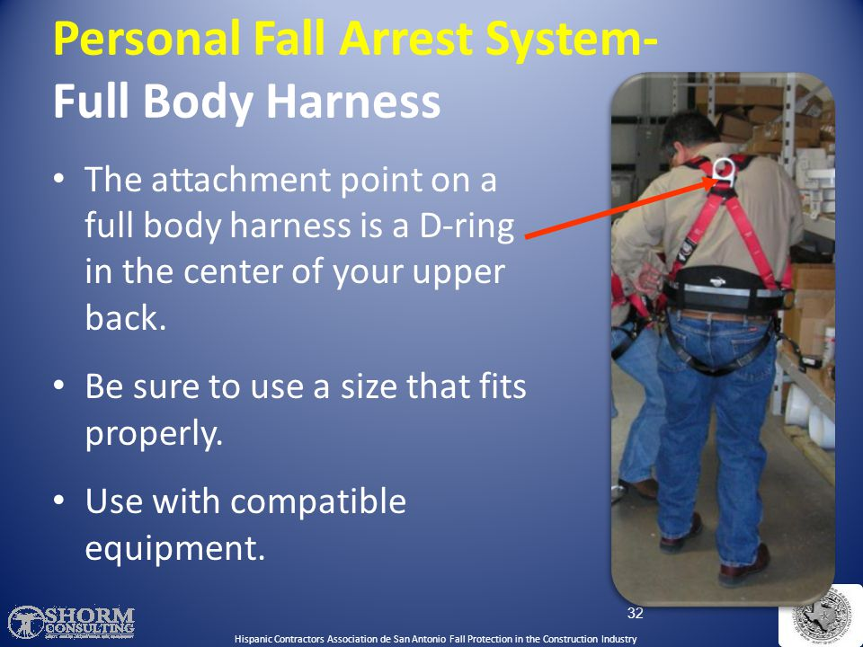Personal Fall Arrest System- Full Body Harness