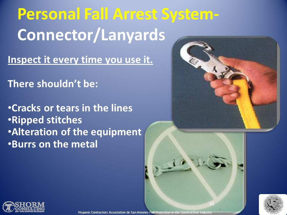 Personal Fall Arrest System- Connector/Lanyards