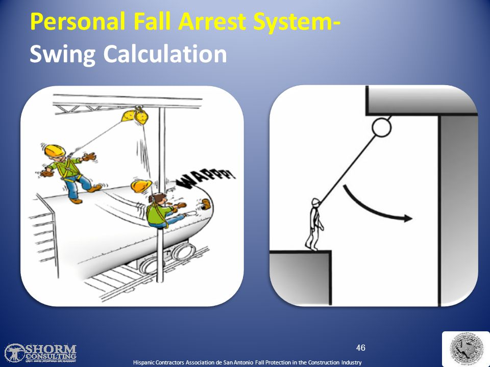 Personal Fall Arrest System- Swing Calculation
