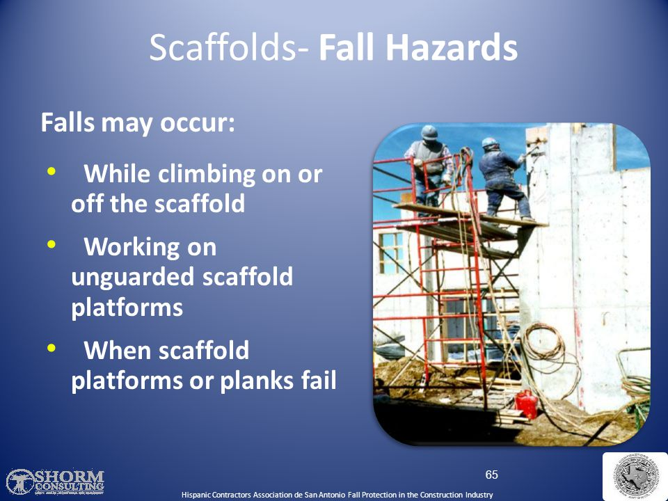 Scaffolds- Fall Hazards