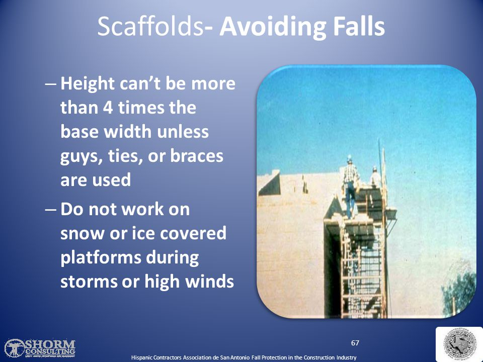Scaffolds- Avoiding Falls