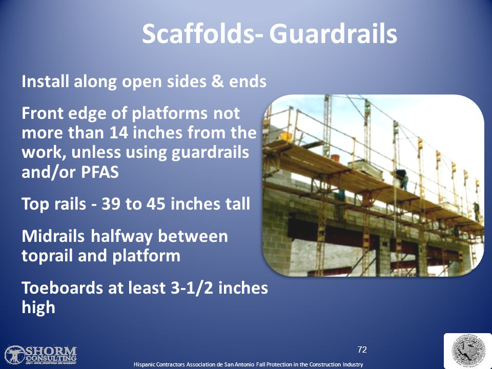 Scaffolds- Guardrails