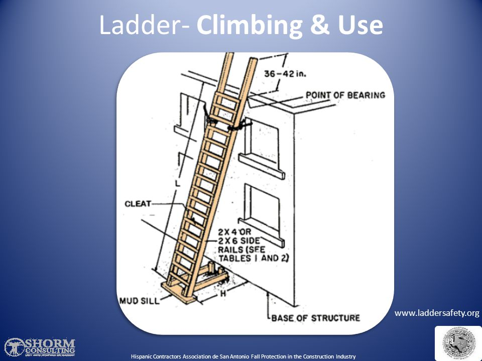 Ladder- Climbing & Use Use this image to discuss: