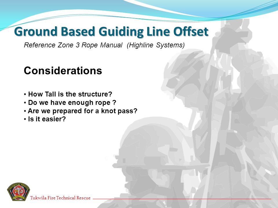 Ground Based Guiding Line Offset