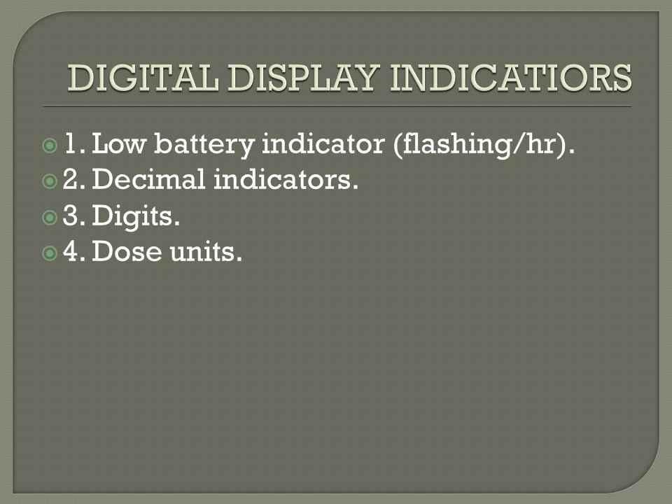 DIGITAL DISPLAY INDICATIORS