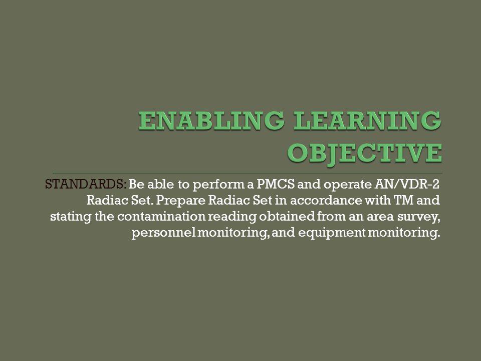 ENABLING LEARNING OBJECTIVE