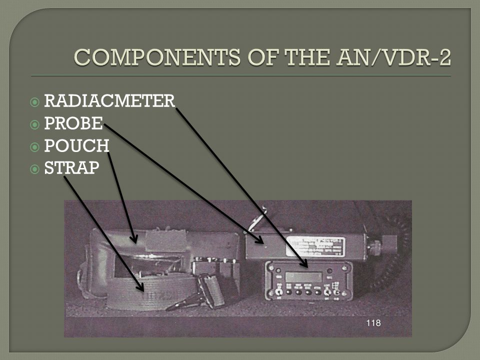 COMPONENTS OF THE AN/VDR-2