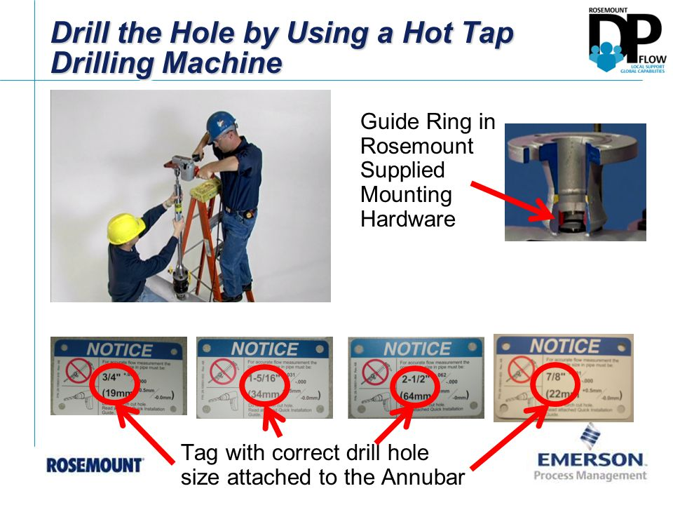 Drill the Hole by Using a Hot Tap Drilling Machine