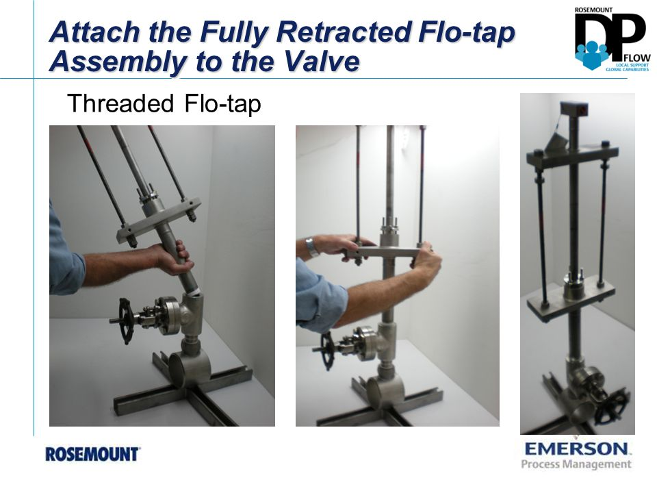 Attach the Fully Retracted Flo-tap Assembly to the Valve