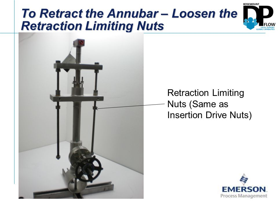 To Retract the Annubar – Loosen the Retraction Limiting Nuts