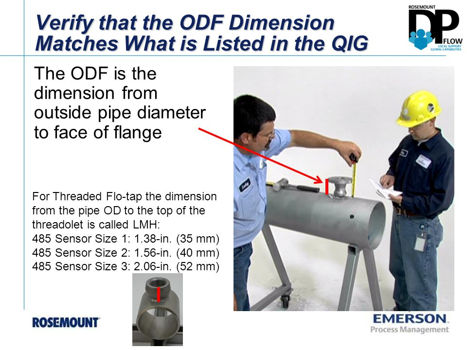 Verify that the ODF Dimension Matches What is Listed in the QIG