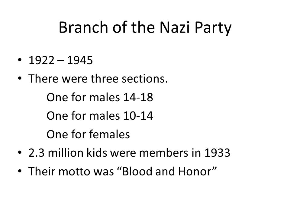 Branch of the Nazi Party