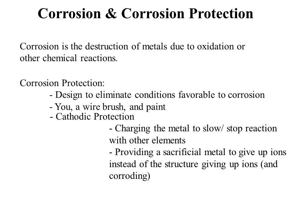 Corrosion & Corrosion Protection