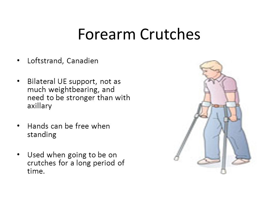 Forearm Crutches Loftstrand, Canadien