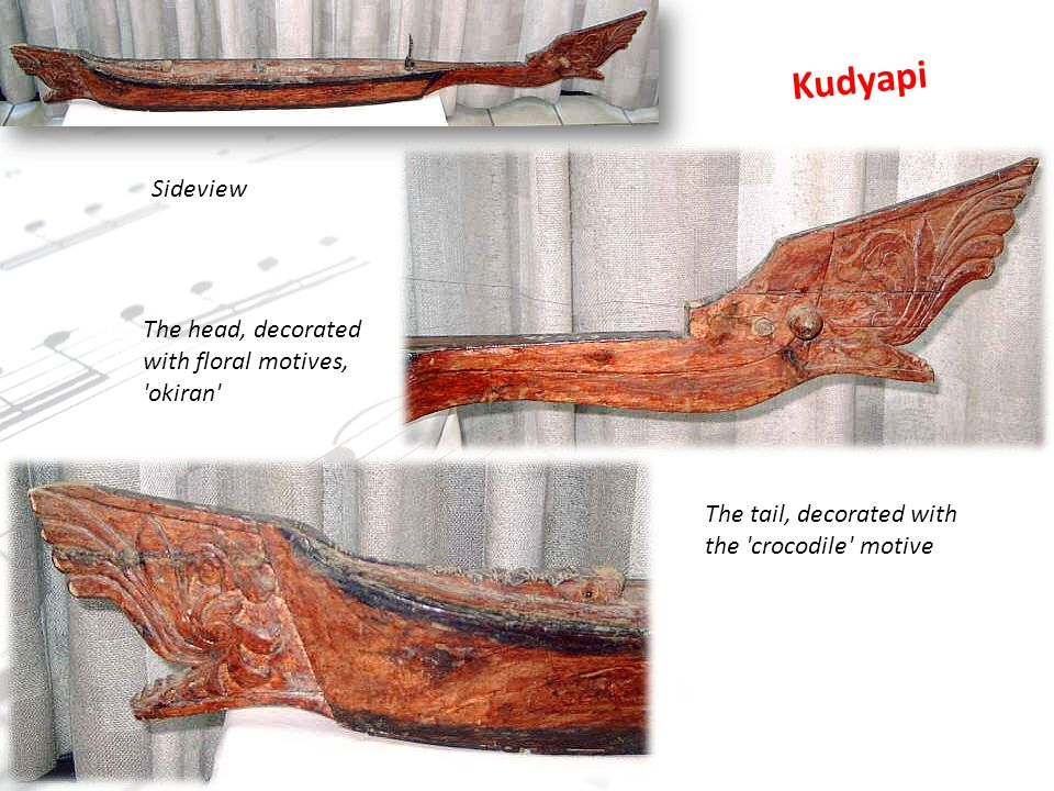 Kudyapi Sideview The head, decorated with floral motives, okiran