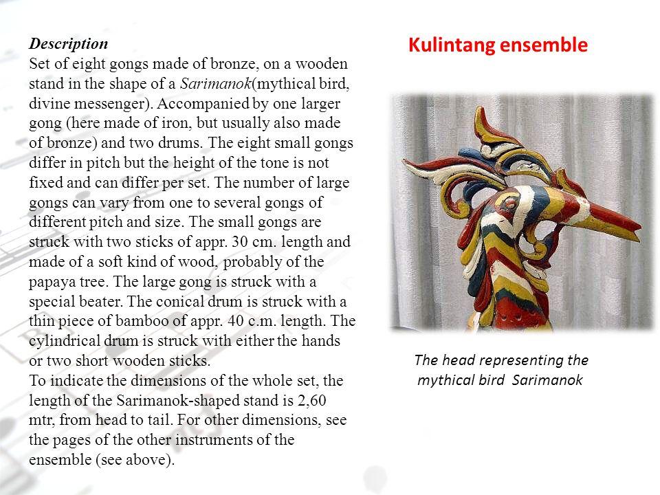 Kulintang ensemble Description