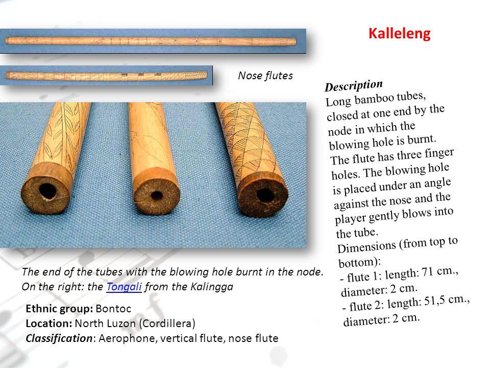 Kalleleng Nose flutes Description