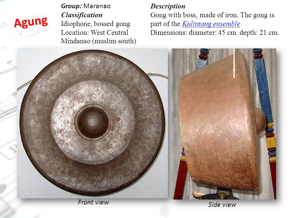 Agung Group: Maranao Classification Idiophone, bossed gong