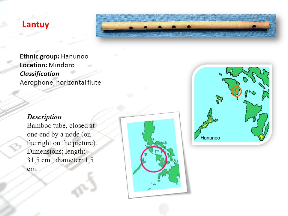 musical instrument in mindoro Music of mindoro the ambahan is a literary product and poetic expression of the southern mangyans of mindoro, philippines although there are about seven different ethnic groups living in mindoro, collectively called the mangyans, these groups are quite distinct from each other as to language, customs, and way of living.