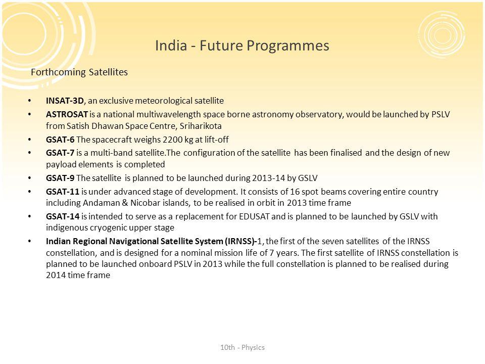 India - Future Programmes
