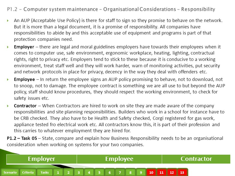 Employer Employee Contractor